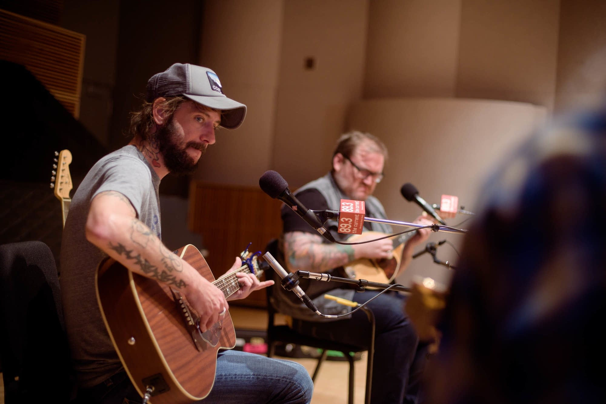 Band of Horses in studio