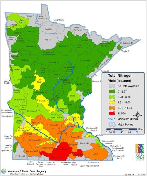 Nitrogen yields per acre