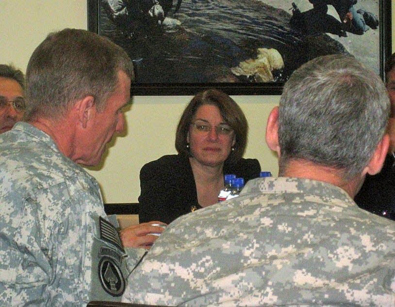 Klobuchar with Gen. McChrystal