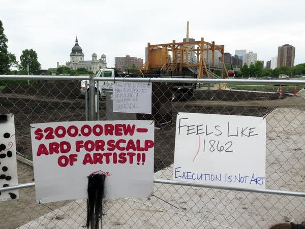 """Some of the opposition to Sam Durant's sculpture titled """"Scaffold"""""""