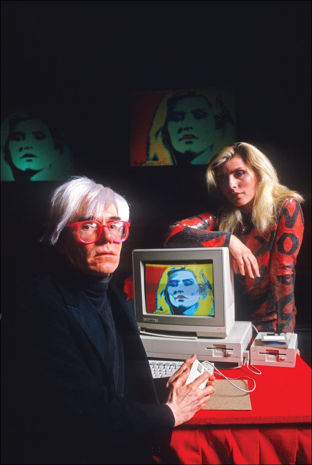 Debbie Harry and Andy Warhol in 1985.