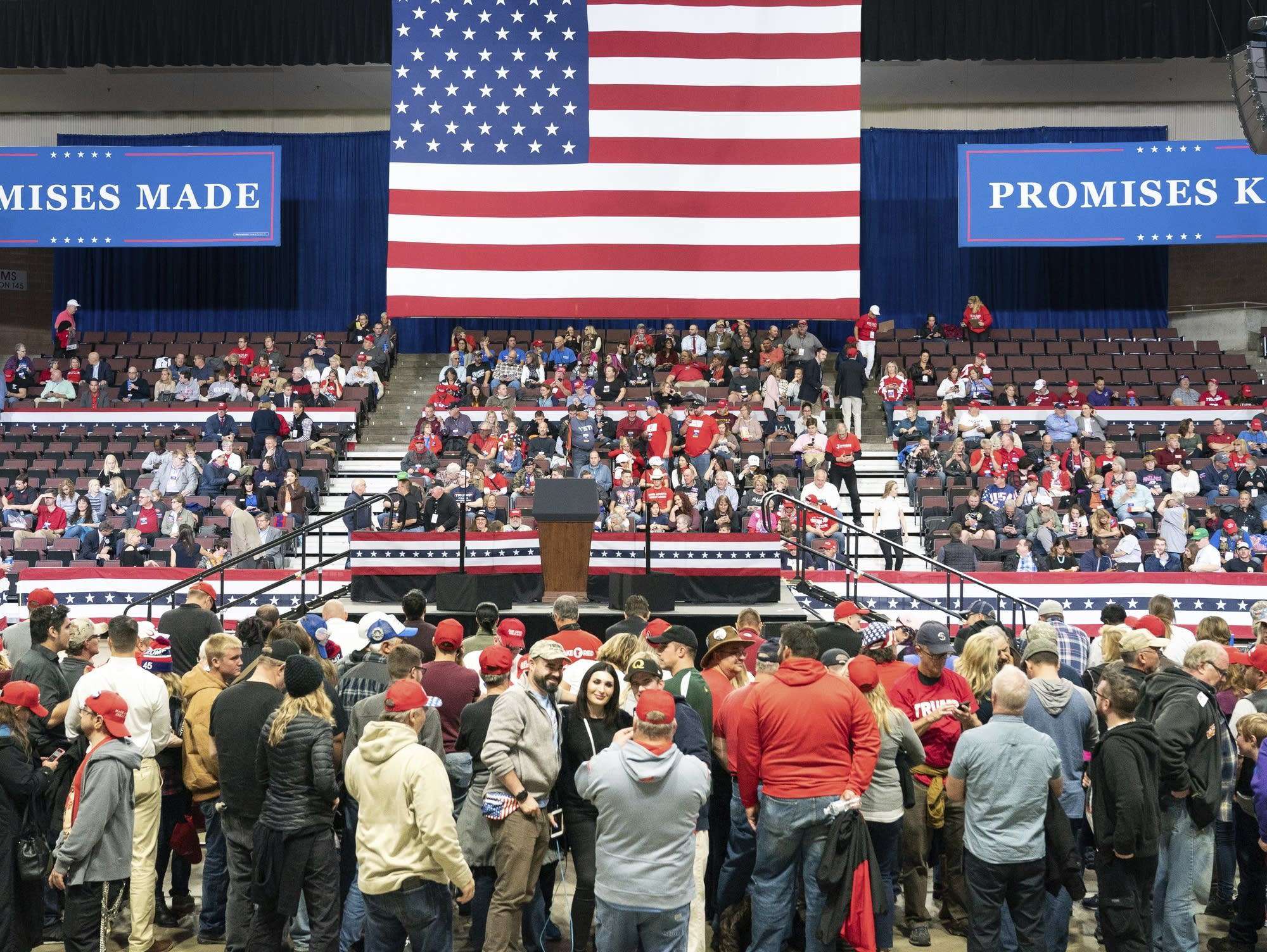 Rochester's Mayo Civic Center before Trump's arrival.