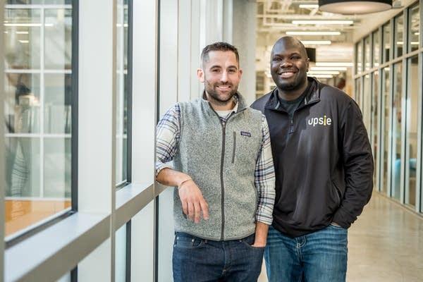 Ryan Broshar, managing dir. of Teckstars, and Clarence Bethea, CEO of Upsie