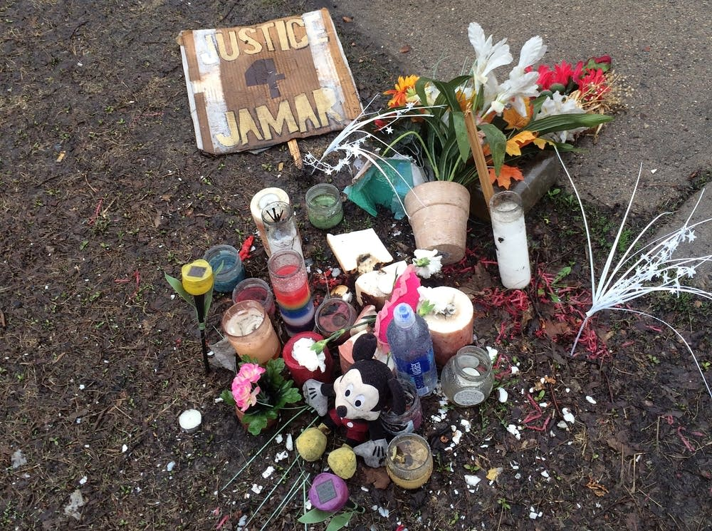 A memorial to Jamar Clark