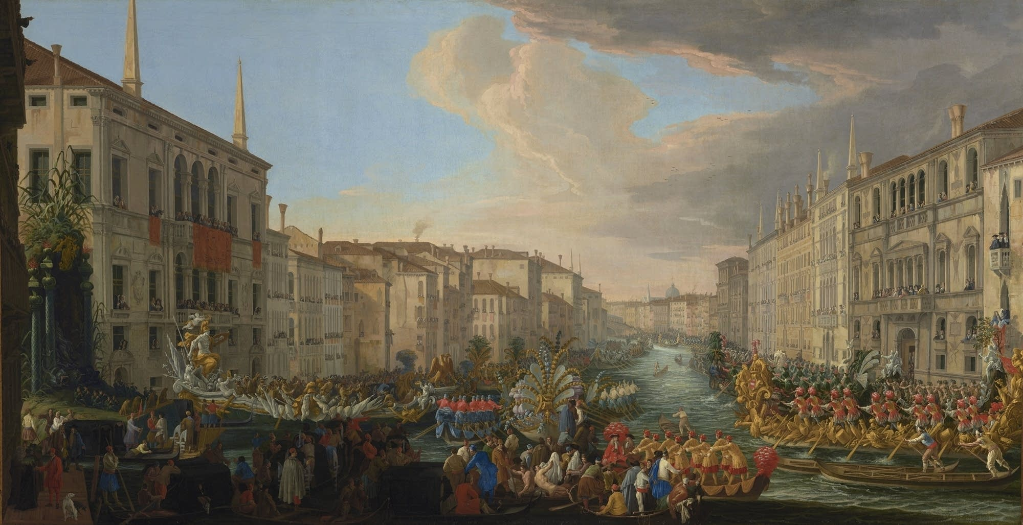 """Regatta on the Grand Canal in Honor of Frederick IV, King of Denmark"""