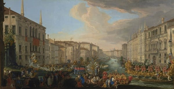 """""""Regatta on the Grand Canal in Honor of Frederick IV, King of Denmark"""""""