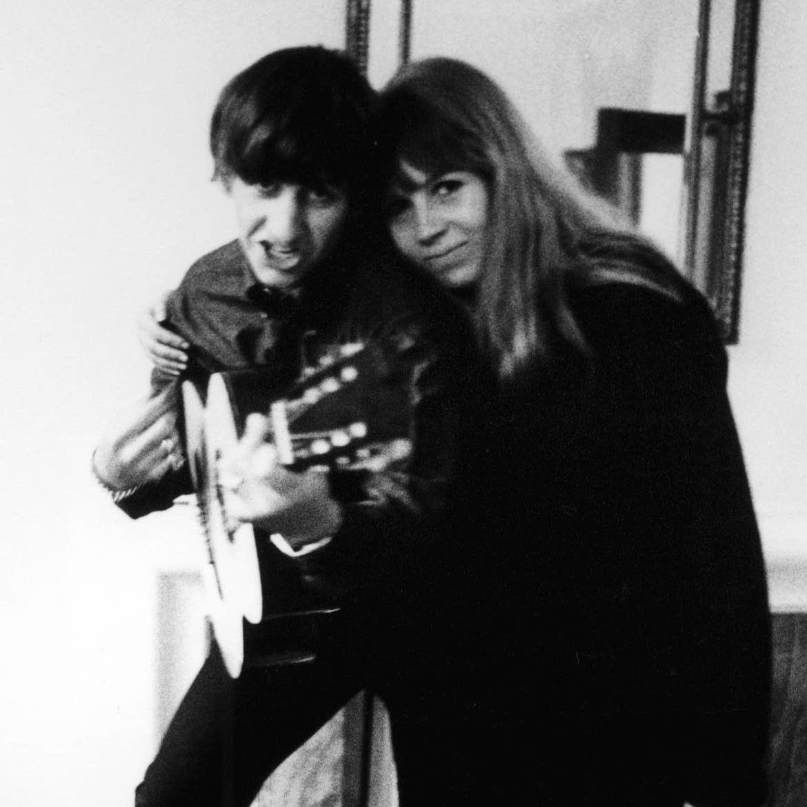 Ringo Starr and Astrid Kirchherr in an undated photo
