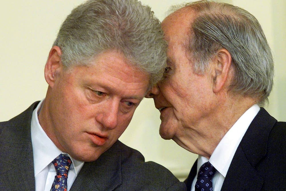 McGovern with President Clinton