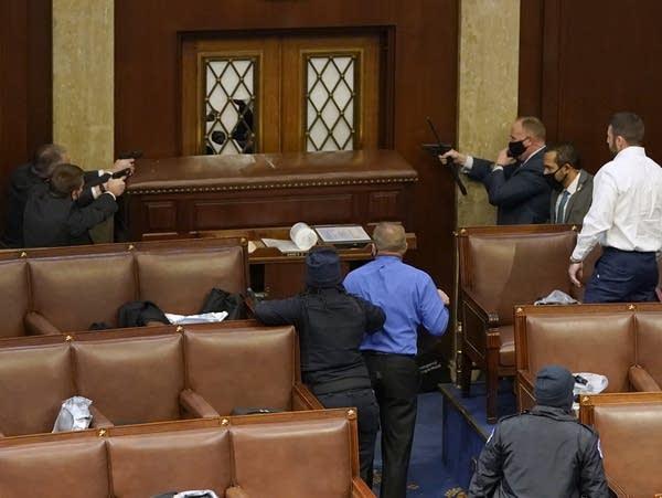 Mob breaches the U.S. Capitol.