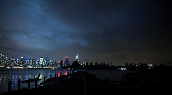 The New York City skyline seen from New Jersey