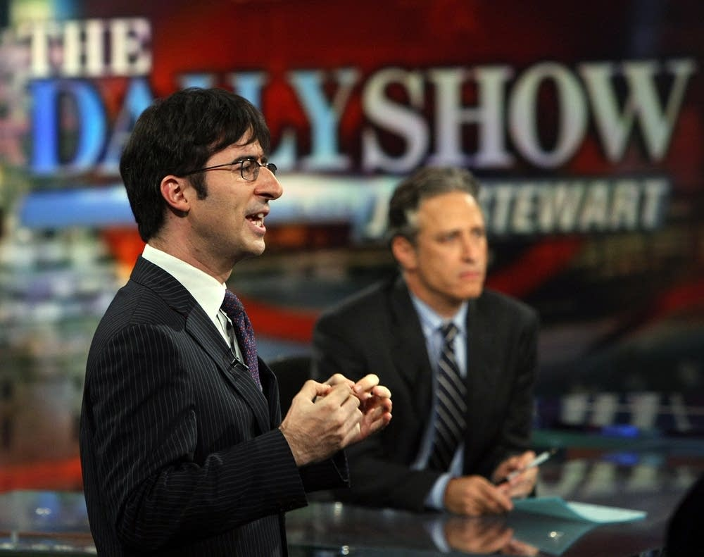 Correspondent John Oliver and Jon Stewart