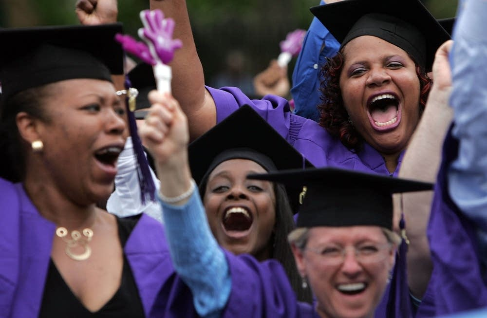 Students at New York University graduation