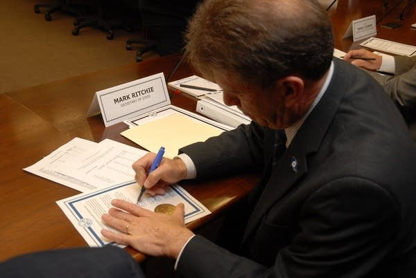 Secretary of State Mark Ritchie certifies election