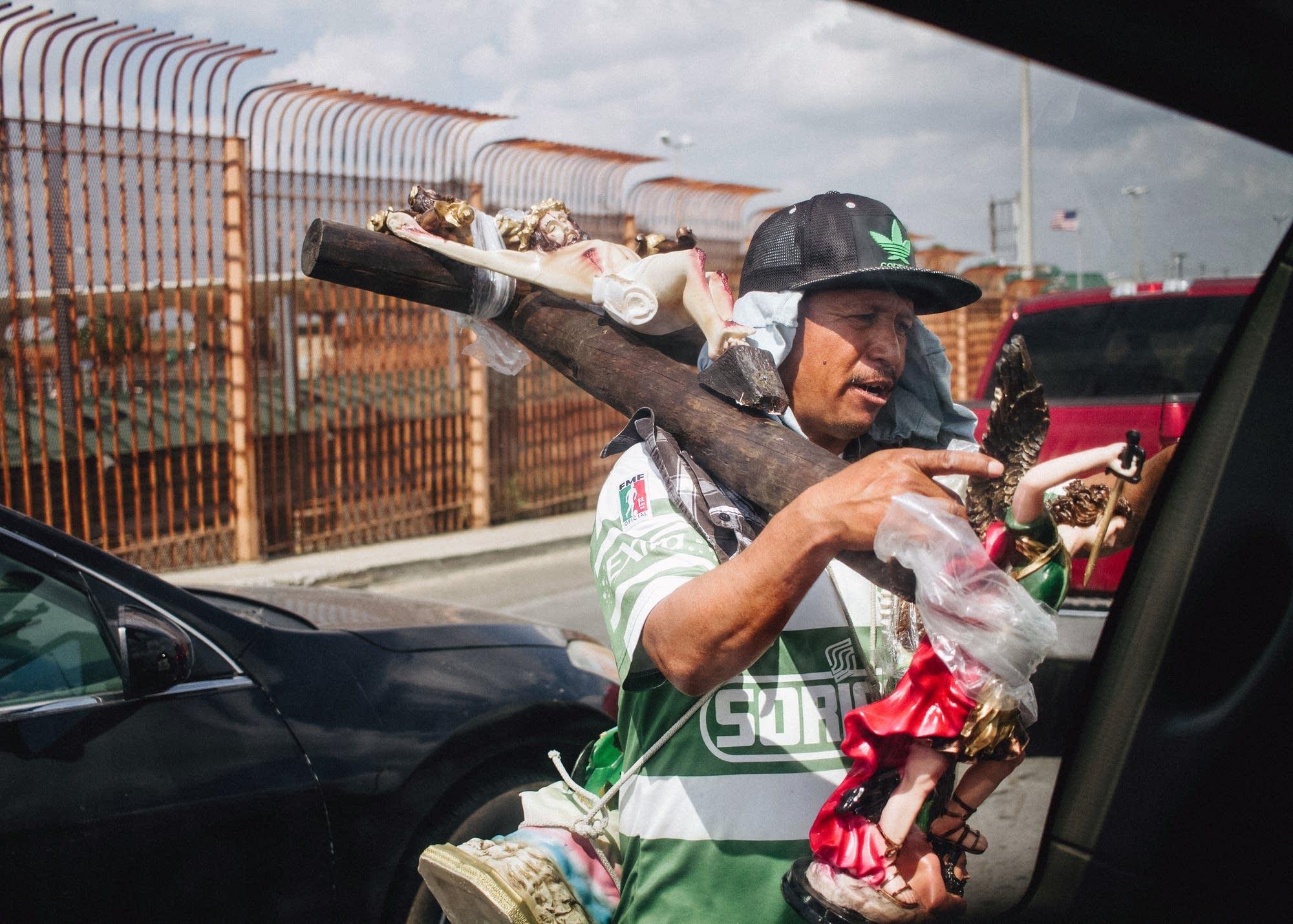 A street vendor in Mexico