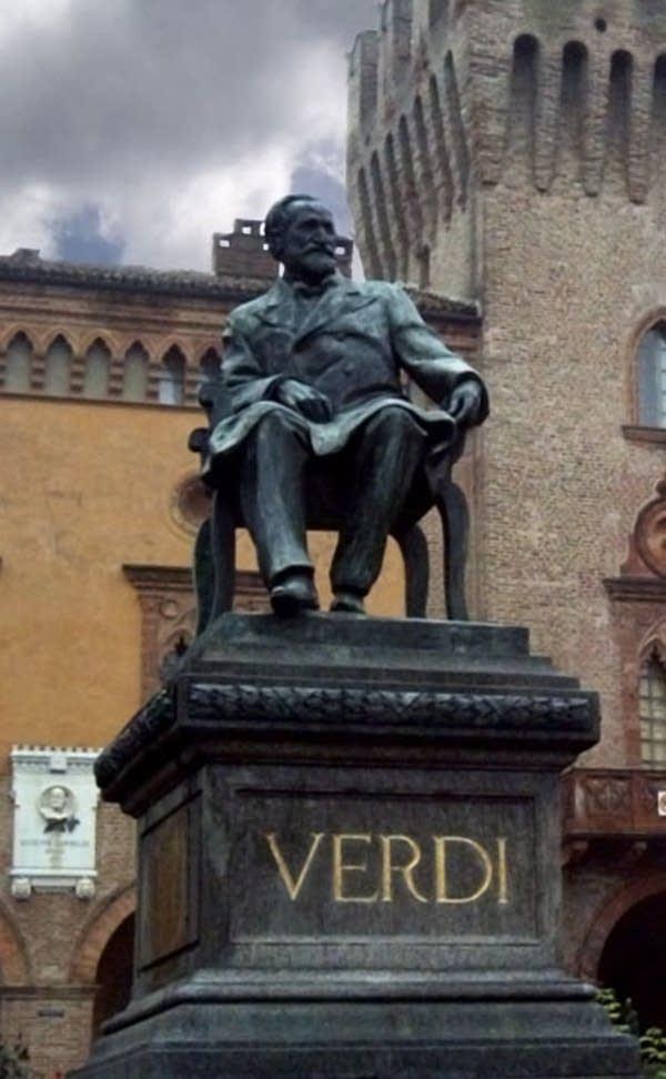 Giuseppe Verdi statue in Busseto, Italy