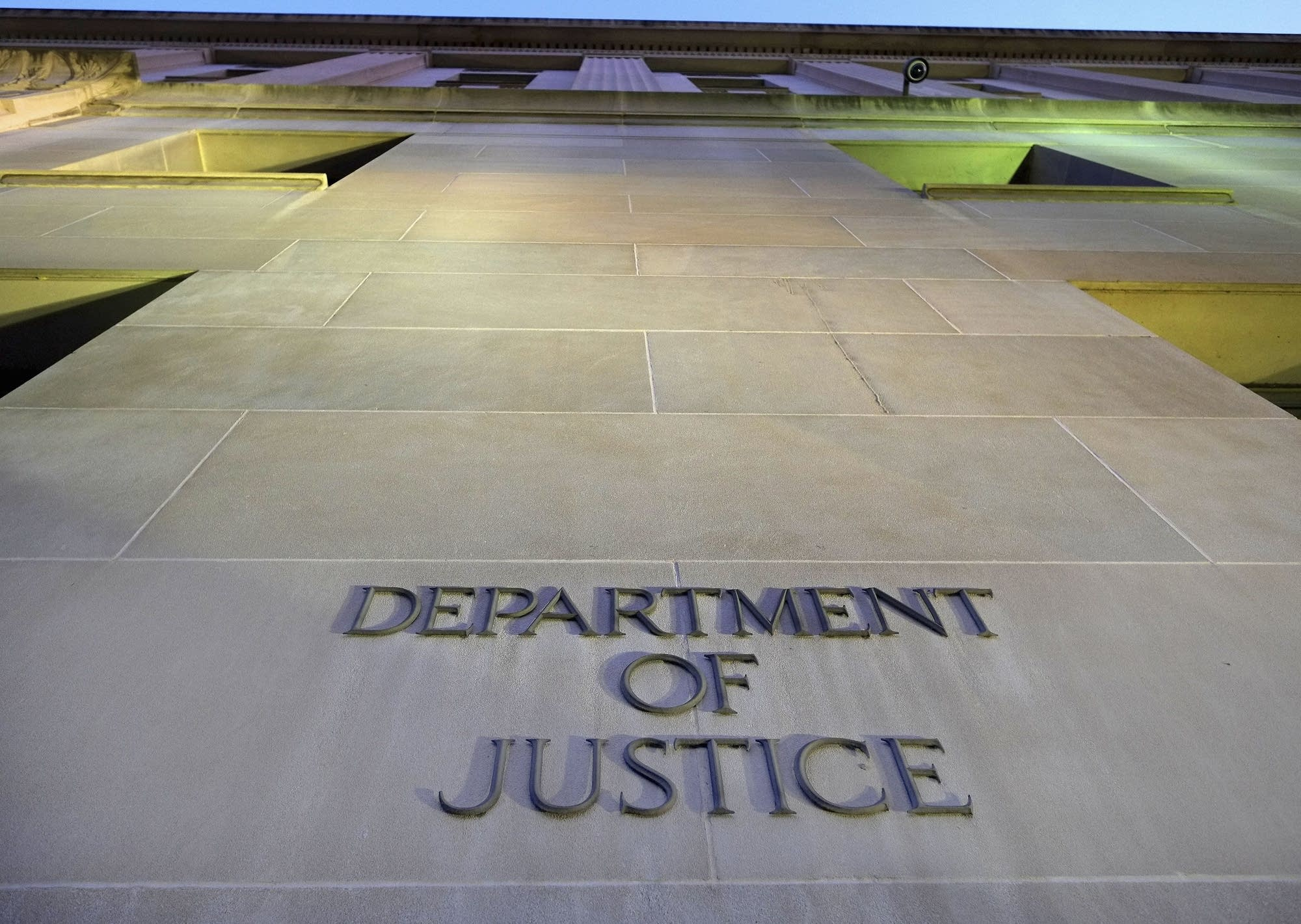 The Department of Justice headquarters building in Washington, DC.