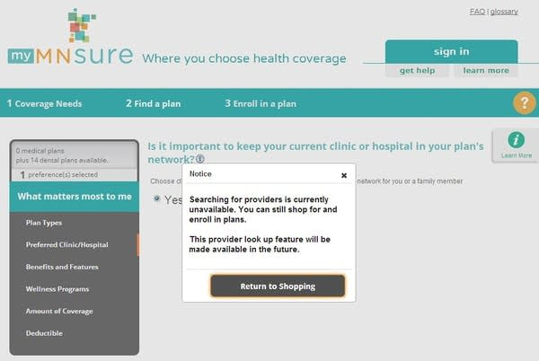 MNsure website