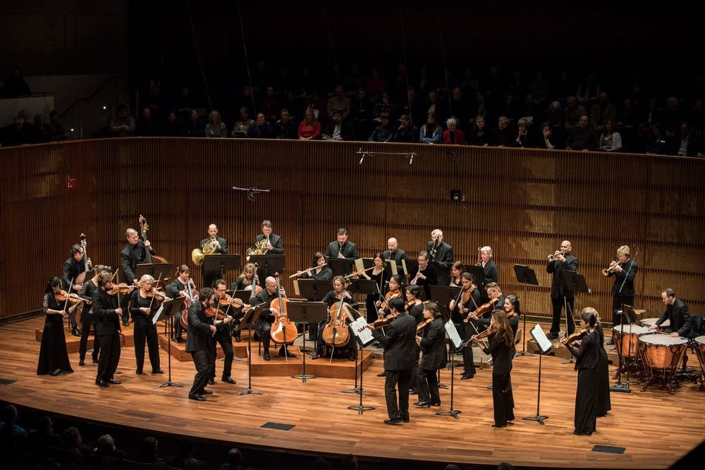 The SPCO onstage at the Ordway's Concert Hall