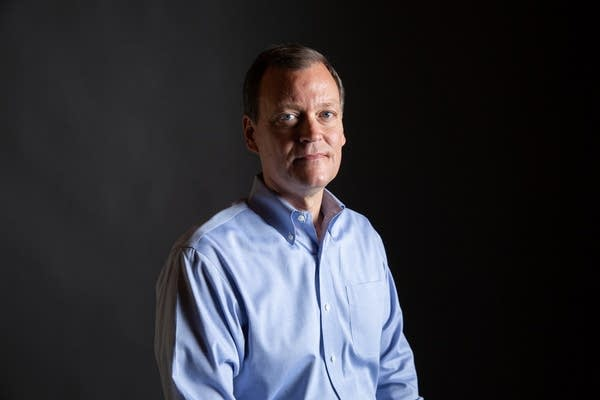 GOP Gubernatorial candidate Jeff Johnson sits for a portrait.