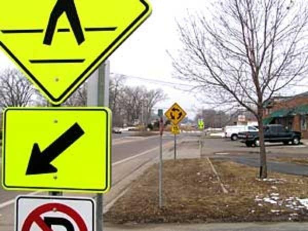 Warning to pedestrians