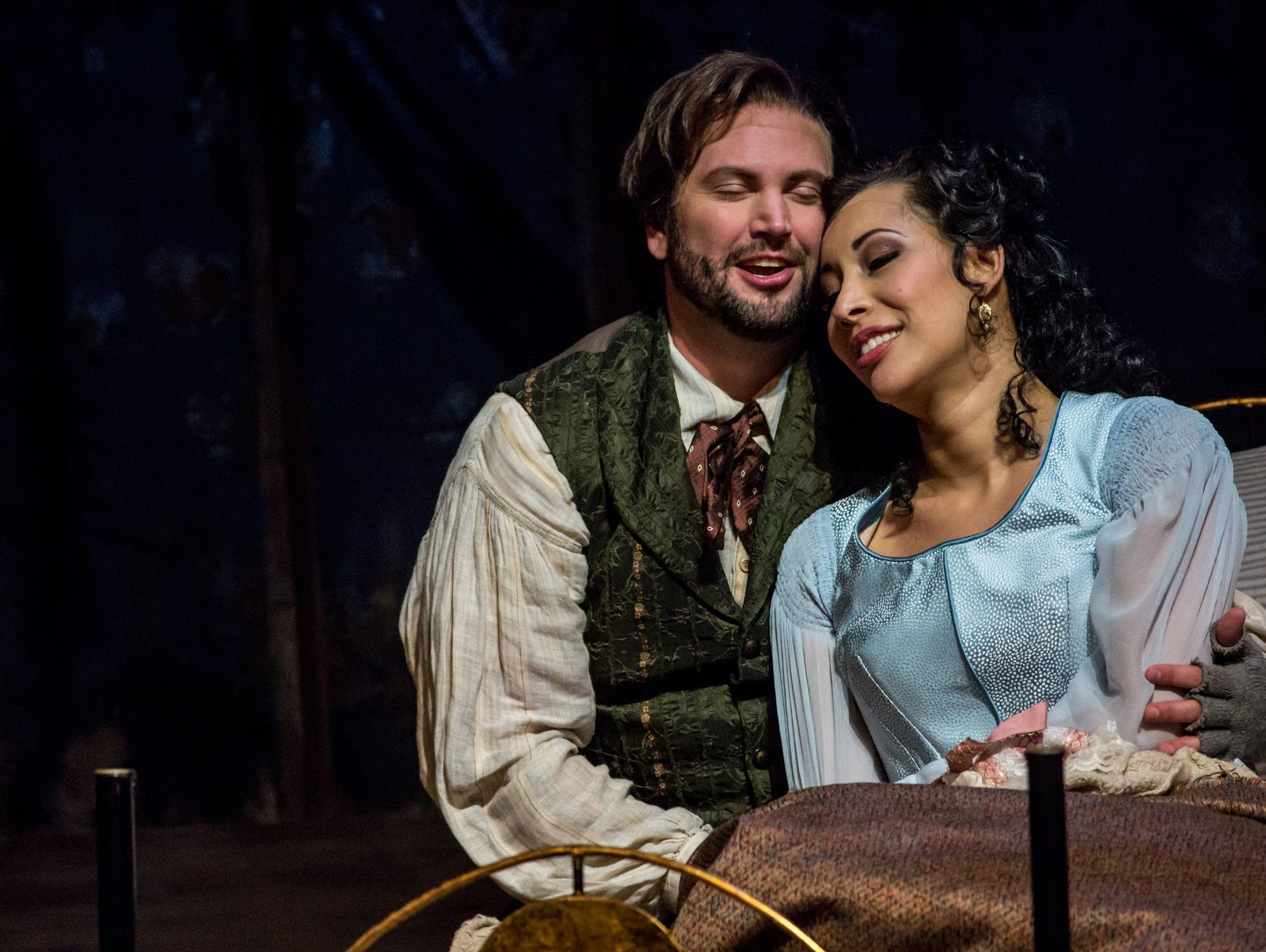 Rodolfo and Mimi in Minnesota Opera's 'La Boheme'