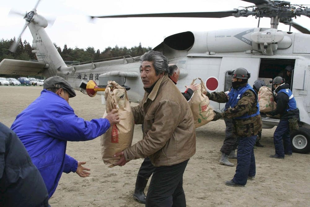 Rescue efforts in Japan