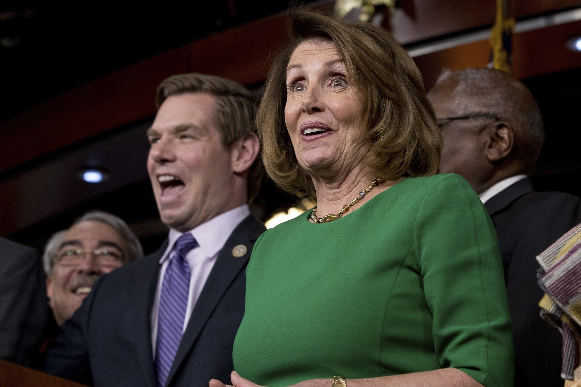 House Minority Leader Nancy Pelosi of Calif., right.