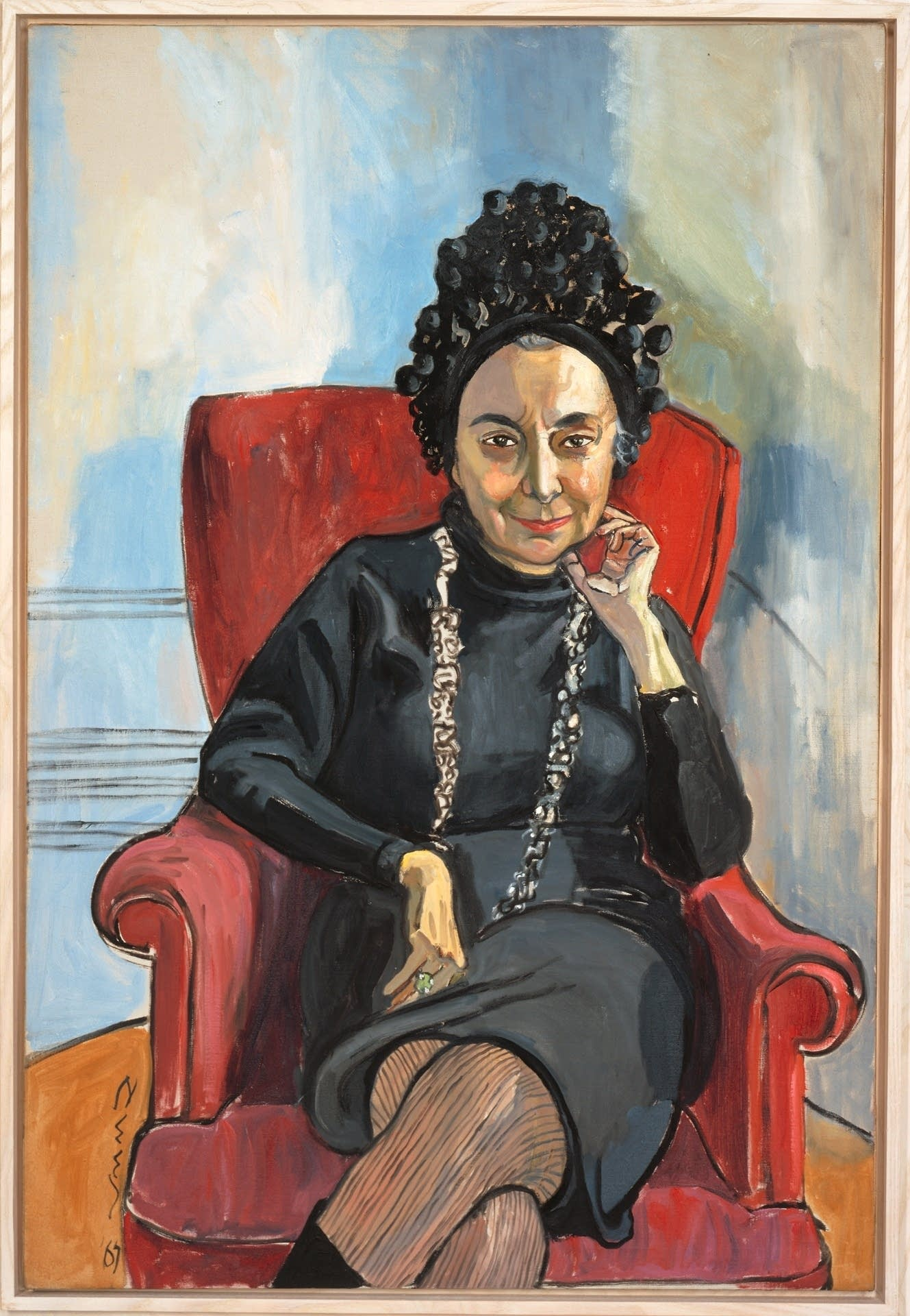 "Alice Neel's 1967 portrait ""Charlotte Willard"""