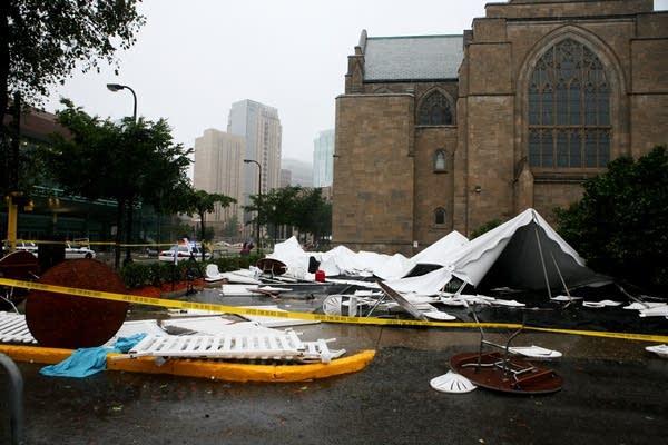 Storm damage in Minneapolis