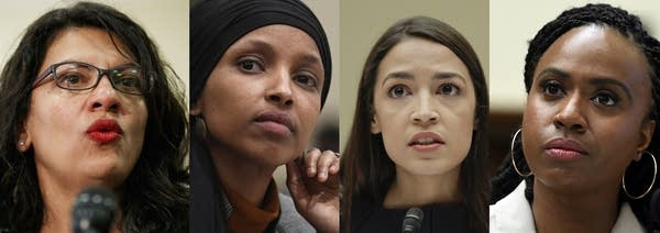 Rashida Tlaib, Ilhan Omar, Alexandria Ocasio-Cortez and Ayanna Pressley