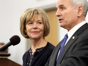 Lt. Gov.-elect Tina Smith listens