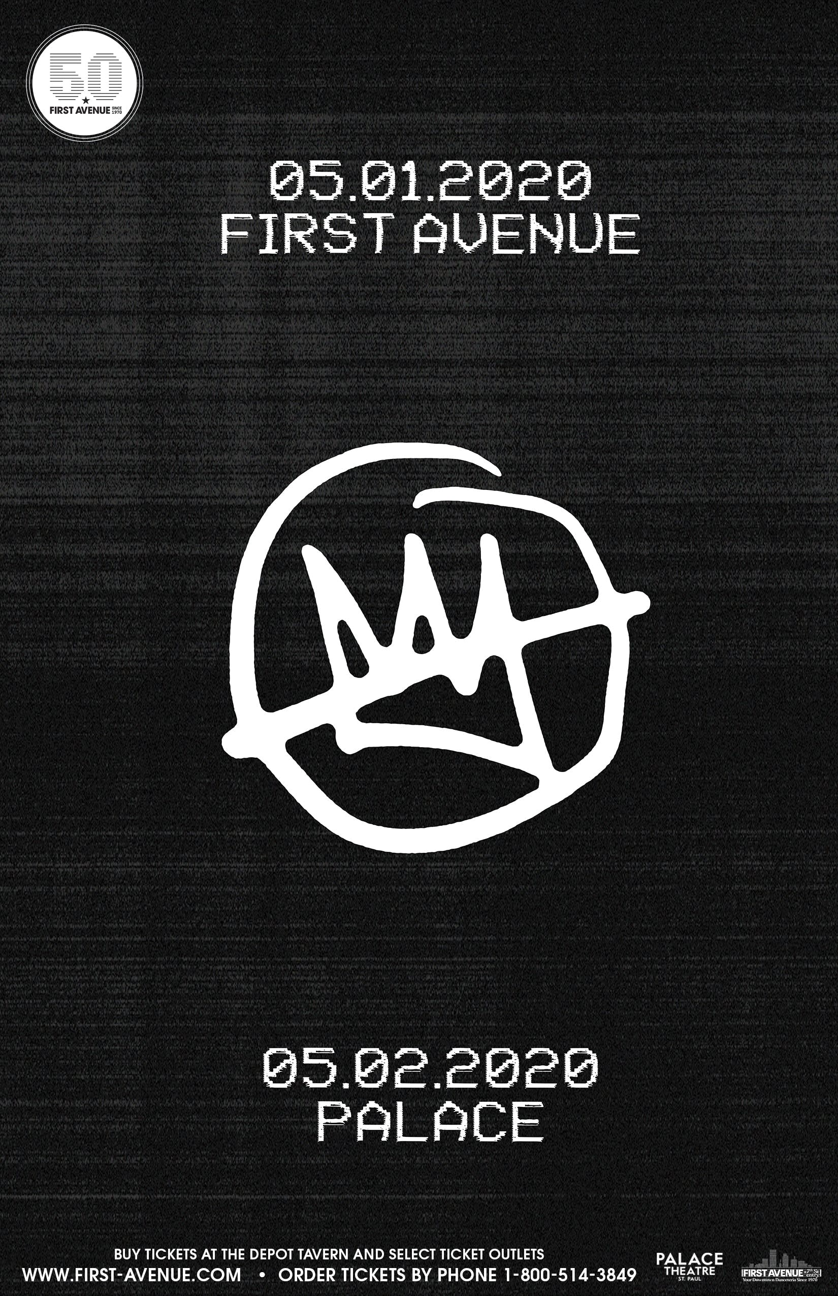 Flyer for May 2020 Doomtree shows.