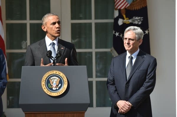 President Obama and Merrick Garland