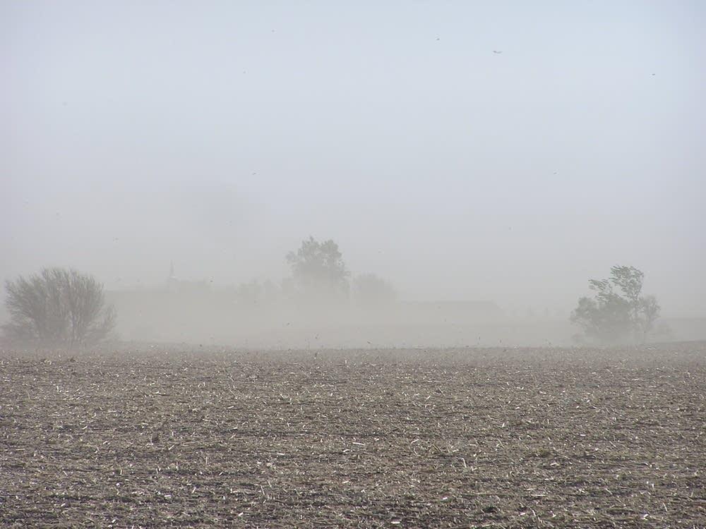 Dust blowing