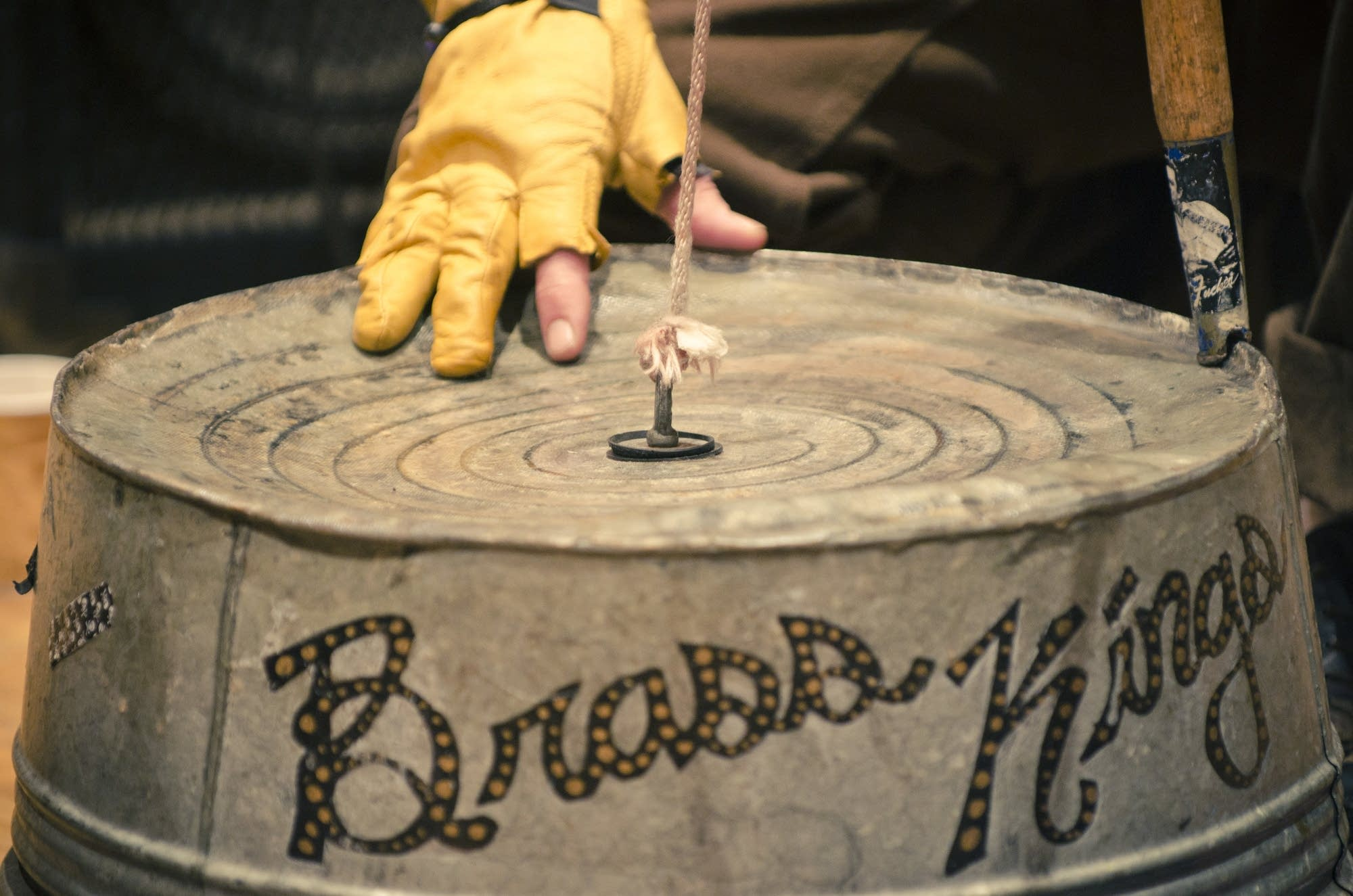 The Brass Kings' washtub bass
