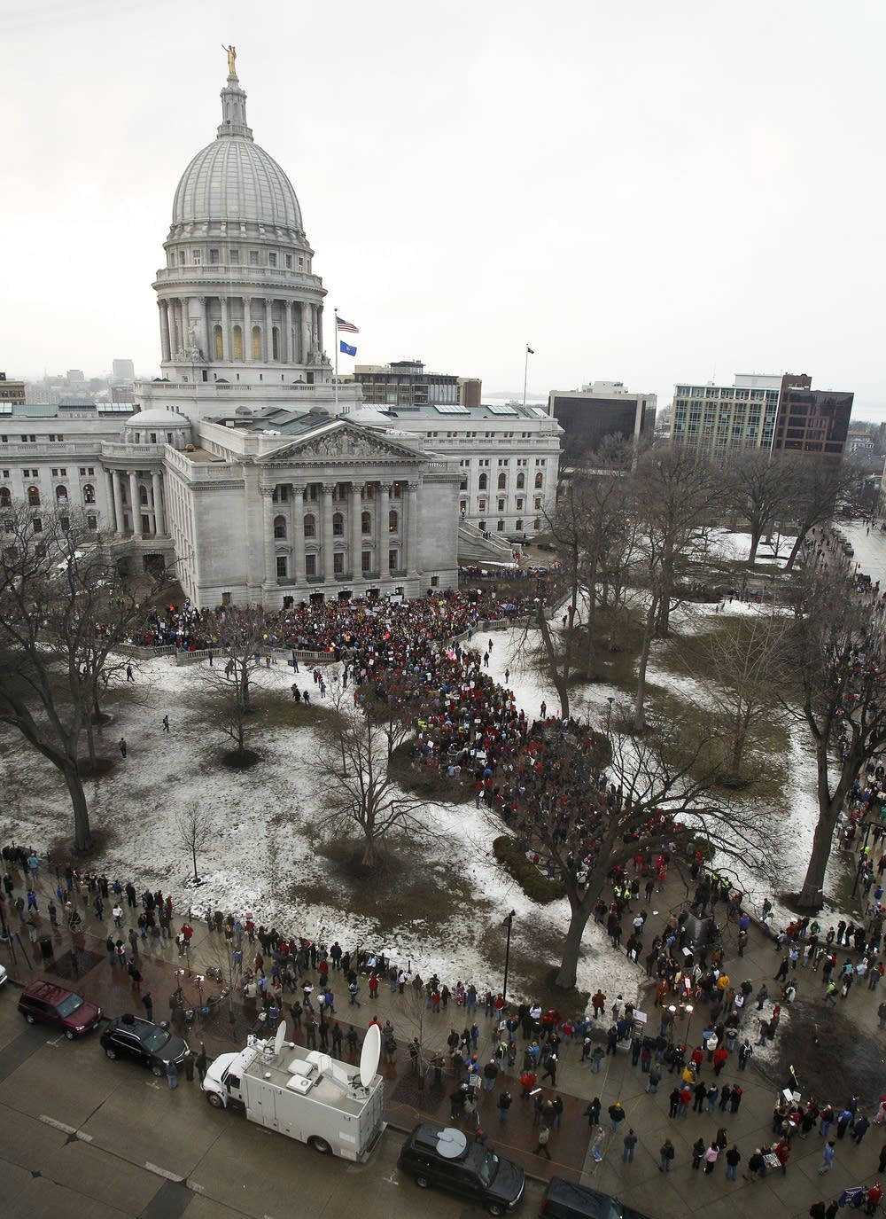Protesters in Wisconsin
