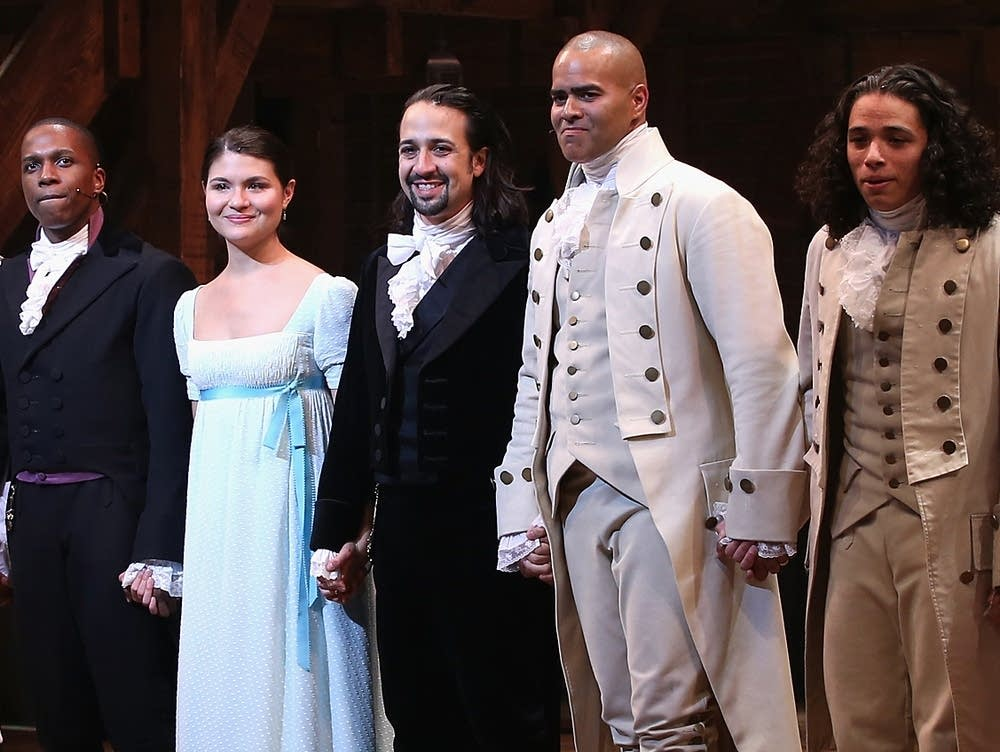 Curtain call at opening night of 'Hamilton'