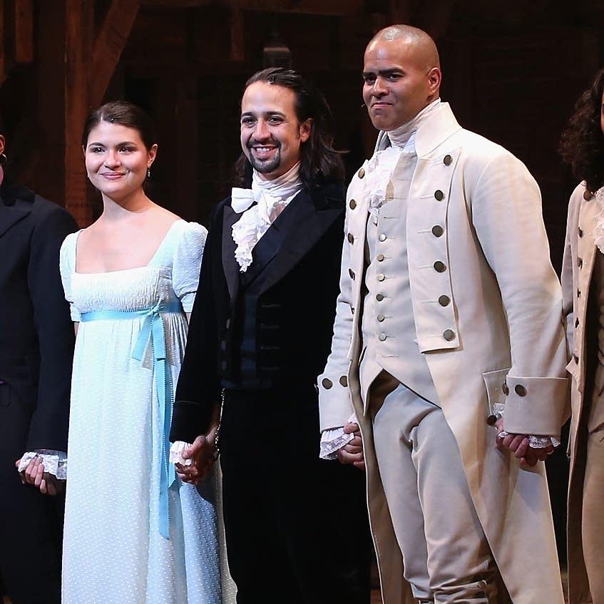 Curtain call at opening night of 'Hamilton'
