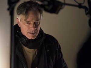 Writer/director Whit Stillman on the set.
