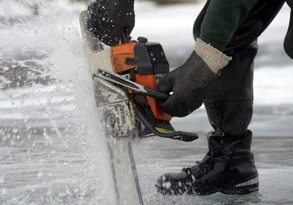 Chainsaw in the lake