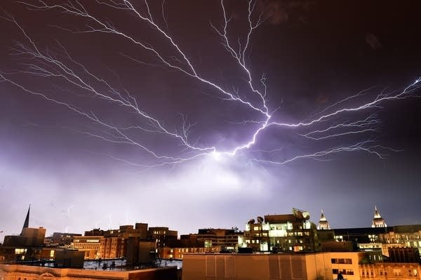Lightning storm over Washington, D.C.