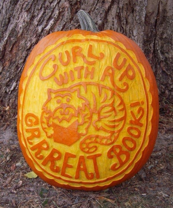 A book-inspired pumpkin