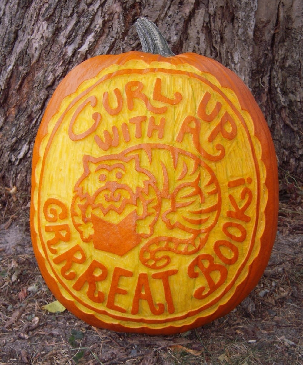 A book-inspired pumpkin