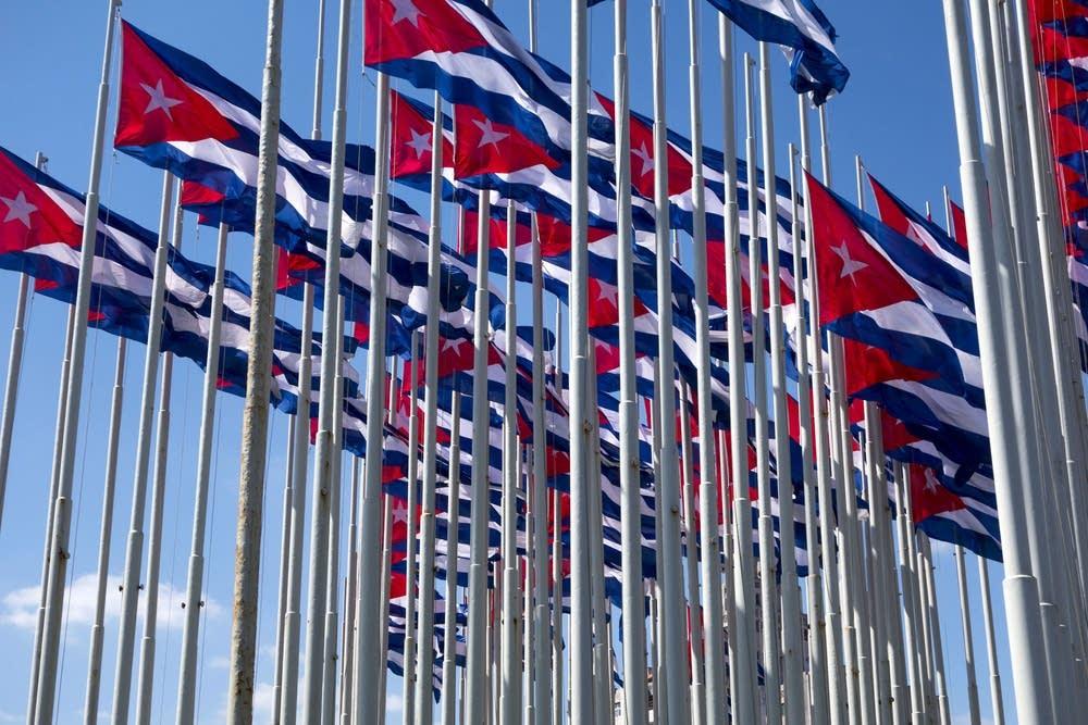 Cuban flags in Havana