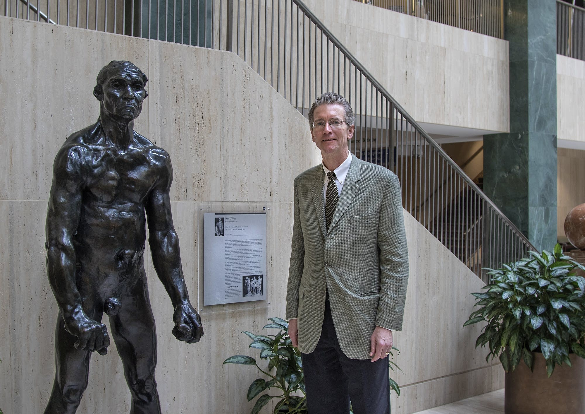 """John D'Aire"" by August Rodin, and Dr. Paul Scanlon"