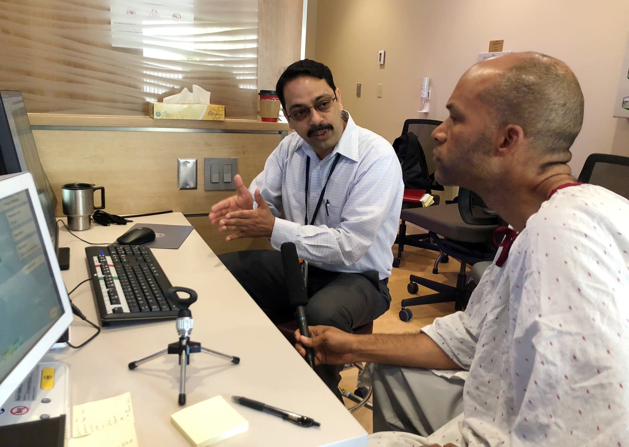 Dr. Gopal Punjabi talks with Brandt Williams about the result of the MRI.