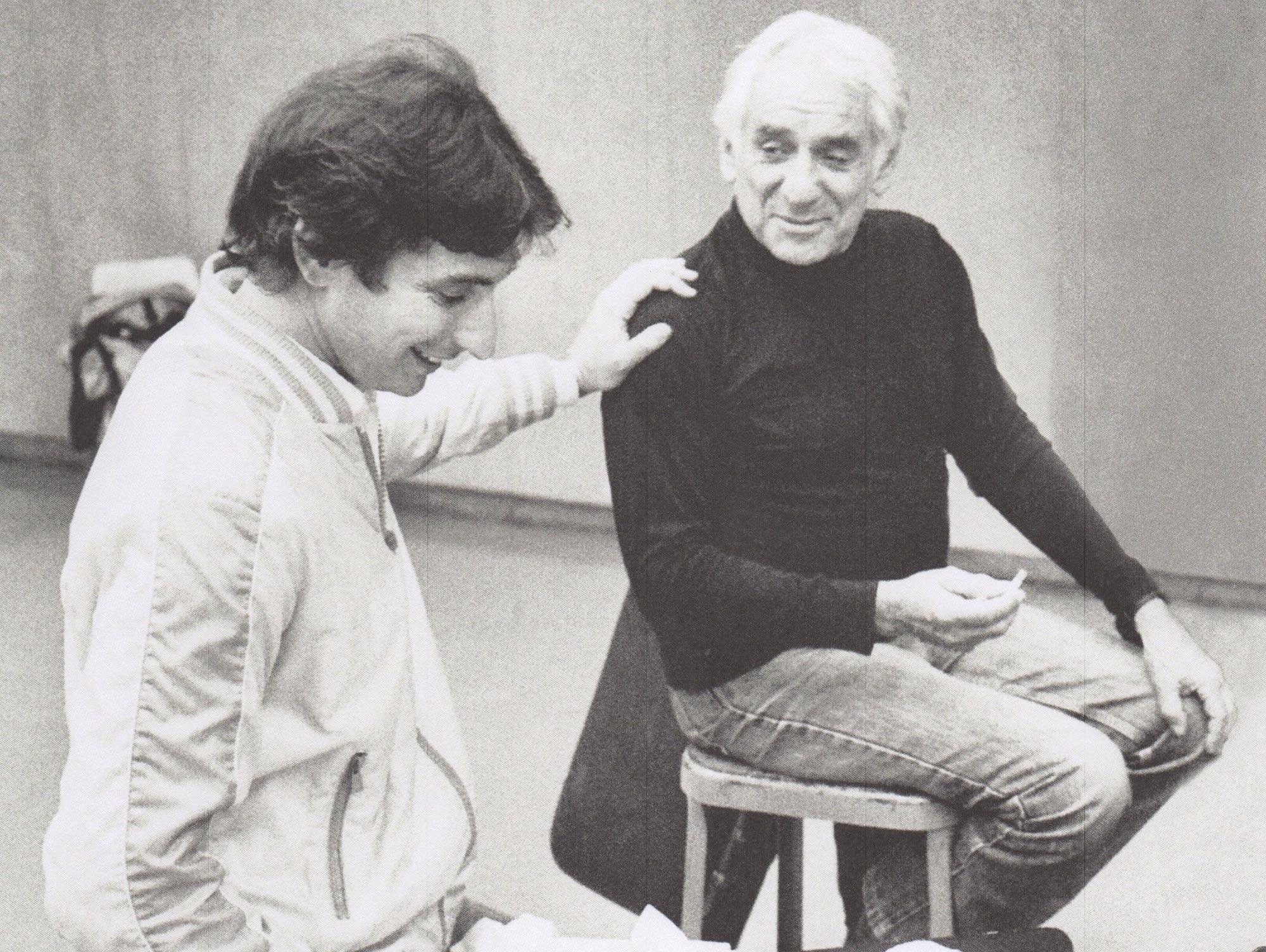 Michael Tilson Thomas and Leonard Bernstein