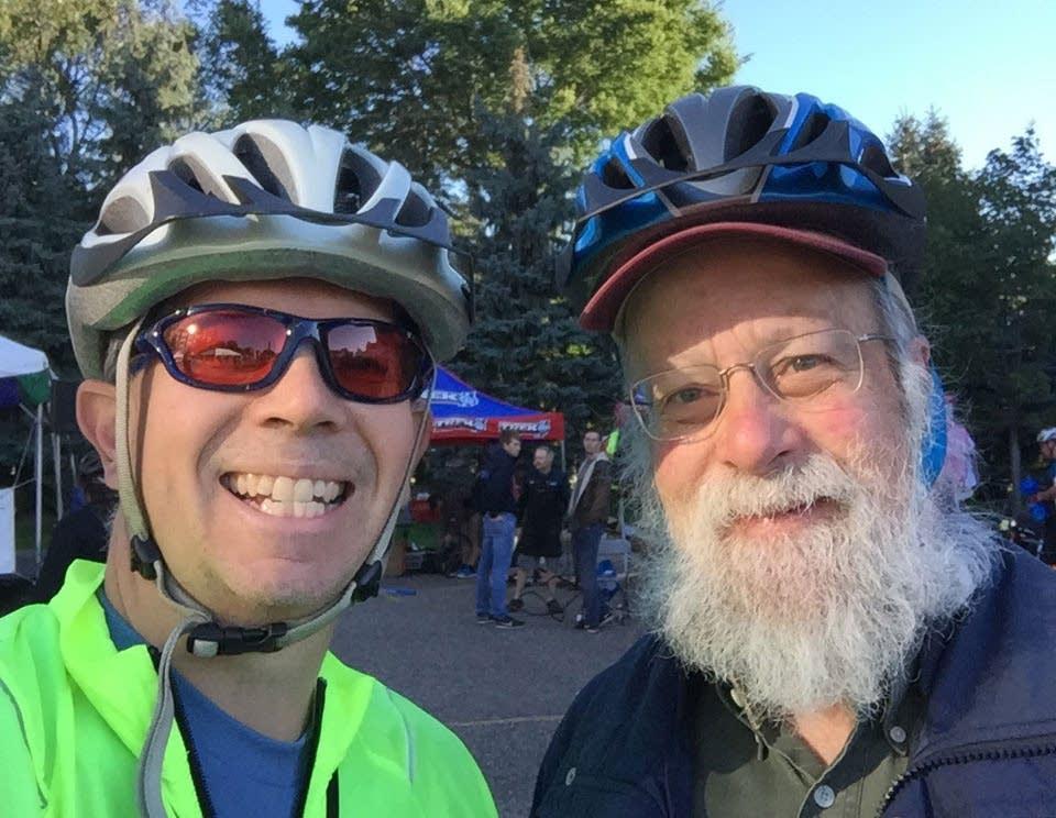 Steve Staruch and Michael Barone ready to bike