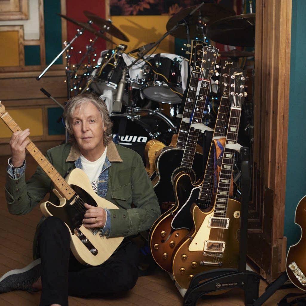 Paul McCartney in his studio