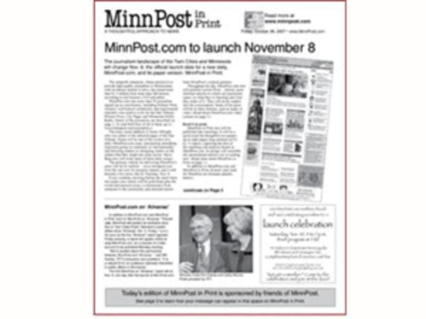 MinnPost will distribute a print edition